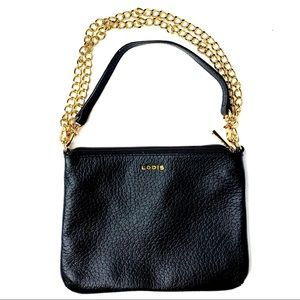 Lodis Black Clutch handbag